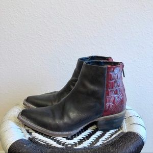 Freebird by Steven red and brown booties